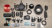 my underwater camera gear layout