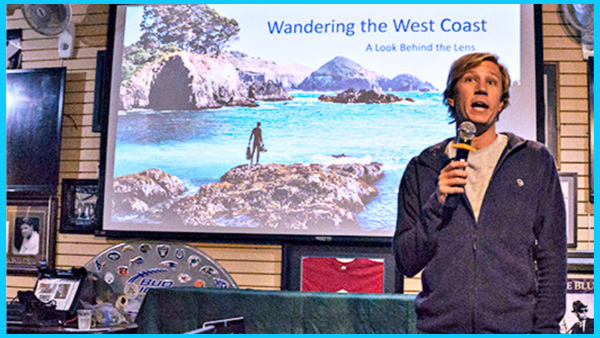presenting at a dive club