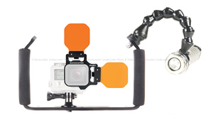Backscatter FLIP7 Package with Light & Motion GoBe 1000 Video Light