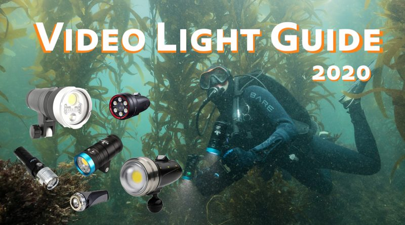 Underwater Video Light Comparison 2020