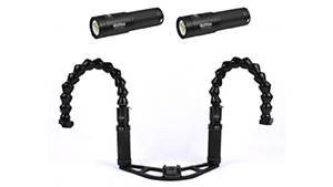 Mozaik Dual Big Blue Black Molly 3 video light kit for GoPro