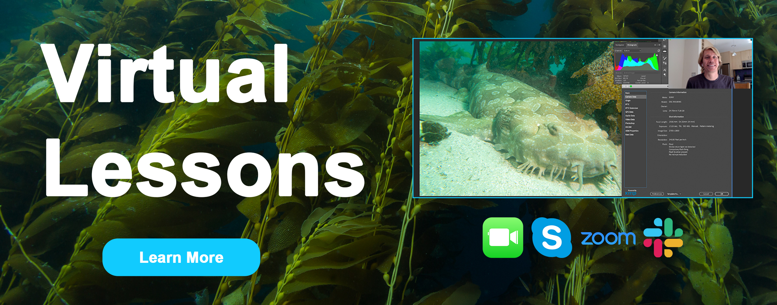 Virtual photo lessons promo